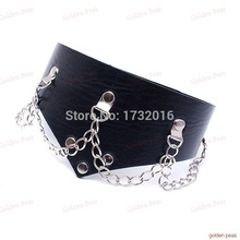 PU Leather Neck Ring , Neck Harness Bondage Restraint Adult Games sex Toys