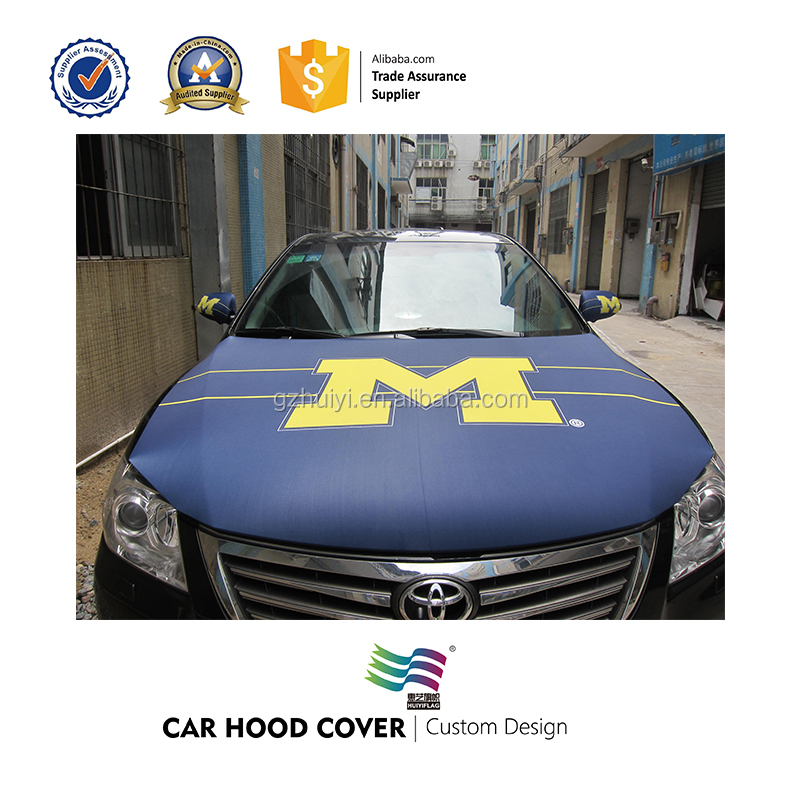 customized logo car hood cover flag for wholesale