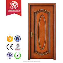 Top quality 100% red oak UL approved fireproof test interior door,for apartment inner house entry position