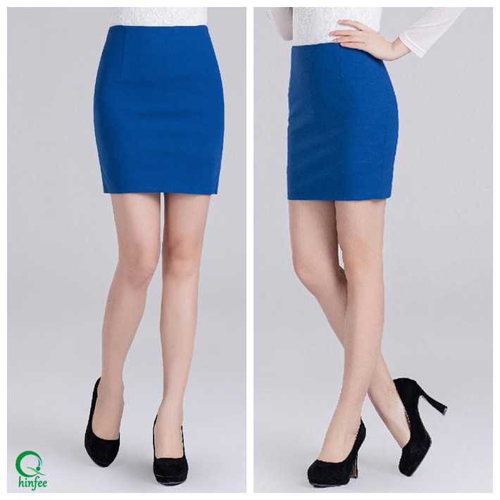 SK073 China Wholesale Ladies Mini Short Office Skirts Designs