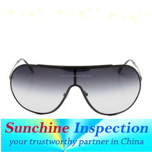 Sunglassess pre shipment inspection/during production check/container loading check in china