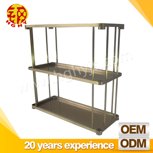 SUS201,SUS304,SUS316 OEM stainless steel metal hotel wine trolley