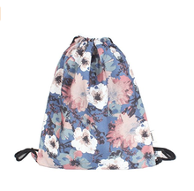 Trendy With Customized Design Cotton String Bag Sublimation Printing Cotton Muslin Drawstring Cotton Bag