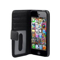 colorful pu wallet card holder case leather for iphone 5""