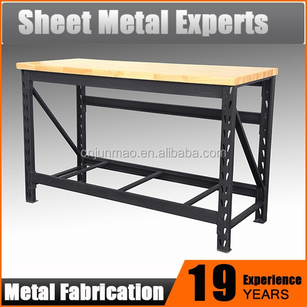 Cold Roller Steel Adjustable Height Work Bench with Rubber Wood