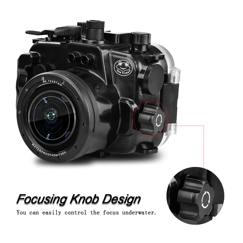 Wholesale  130ft 40m Underwater Depth Diving Camera Water Resostamt Case, Waterproof Camera Housing for Canon  powershot G1 X Ma