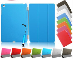 New Arrival Ultra-thin Magnetic PU Leather Case Smart Cover for iPad Mini 2 with Wake Up Sleep Made In China