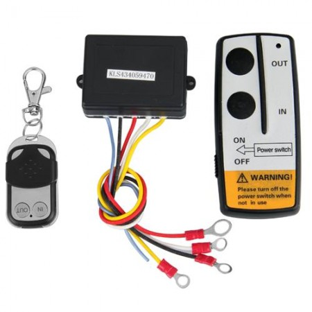 12V 12 Volt Wireless Remote Control Kit for Truck Jeep ATV Winch