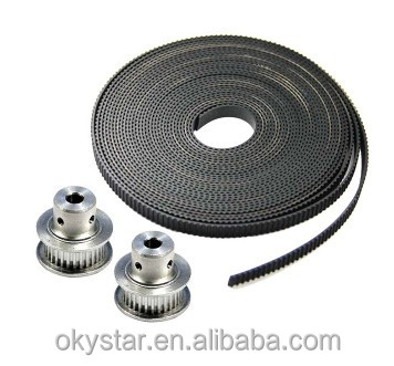 GT2 Timing Belt + 5pcs GT2 20 Tooth Timing Pulley for 3D printer CNC