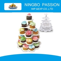 5-Tier Plastic Cupcake Stand/5 Tiered Tower White Cupcake Holder Stand / 27 Count Plastic Cupcake Dessert Stand with 5 Tiers