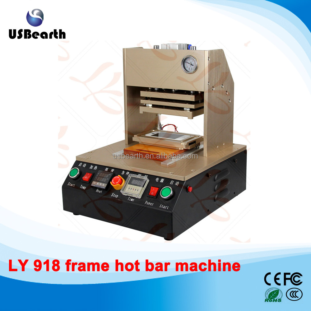 hot LY 918 built-in air compressor,auto apple mobile frame hot bar machine hot bar station