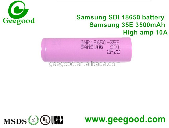 Original Samsung 35E 18650 3500mAh li ion power battery high capacity 3.5Ah 18650