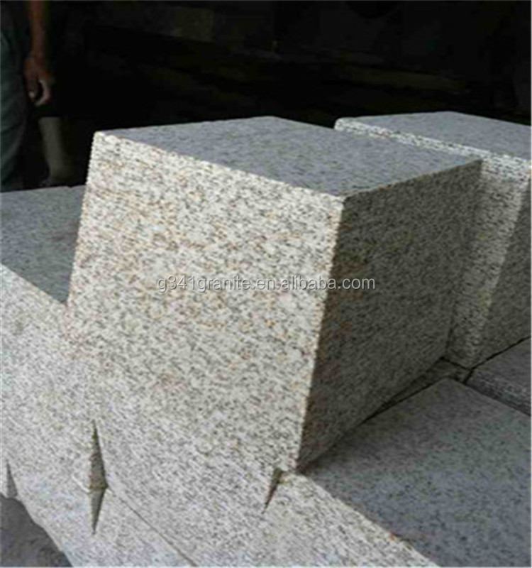 Flat silver grey granite cobbles