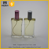 custom made transparent rectangular glass perfume spray bottle 100ml
