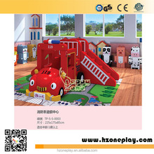 Cool Fire Engine Themed Soft Roll Play Equipment Soft Cartoon Play Equipment for Children Soft Playground