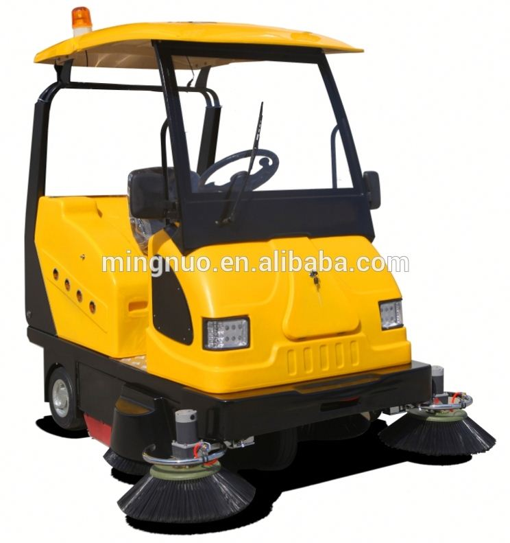 MN-E800W electric road sweeper road sweeping machine industrial brush cleaning floor power broom sweeper