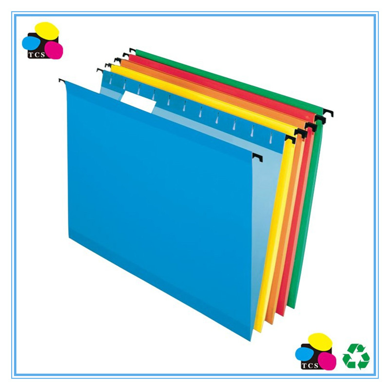 Office Hanging File Folders Paper, Assorted Colors,Black Hooks, Box of 25pcs