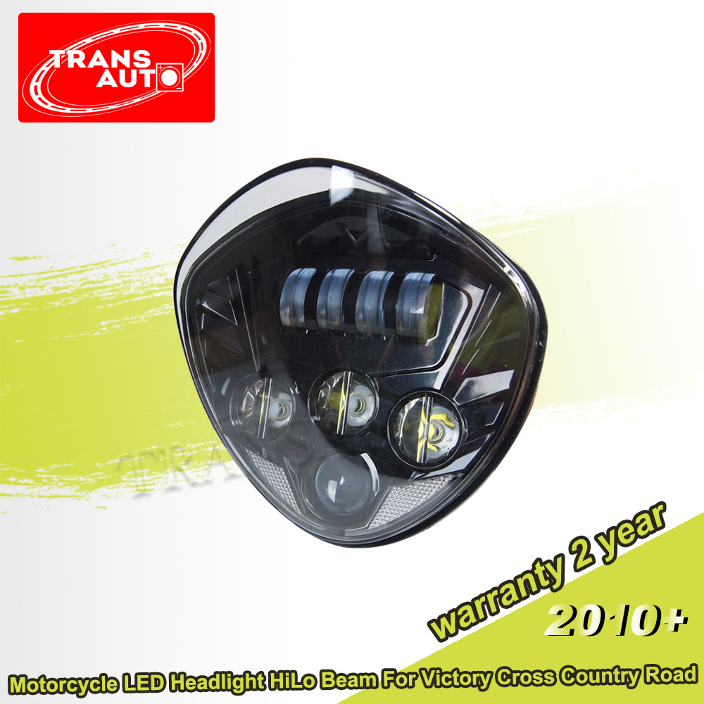 40W Black LED Headlight For Victory Motorcycle