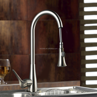 Sink Mounted Chrome Plated Flexible Kitchen Water Faucet KNF020B