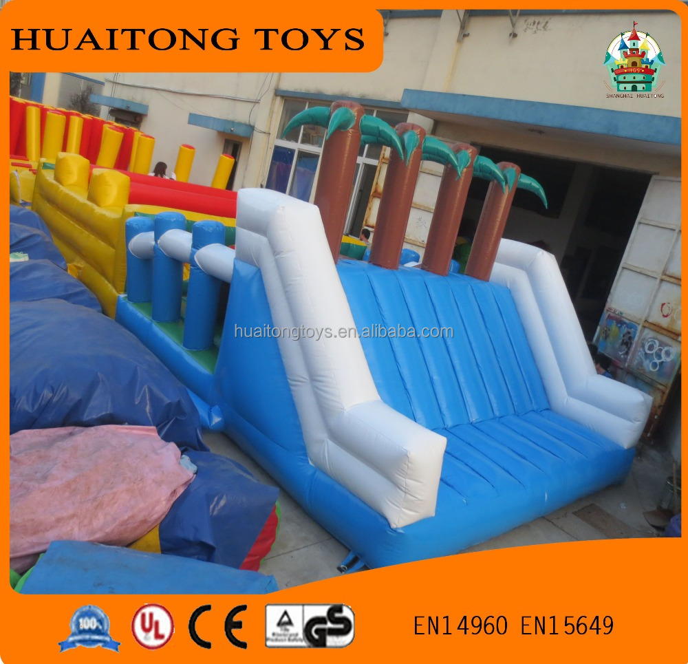 hot sale outdoor preschool playground equipment inflatable obstacle course