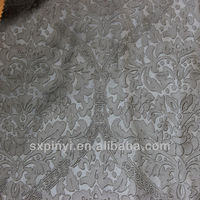 pu synthetic leather with elegant coining flowers