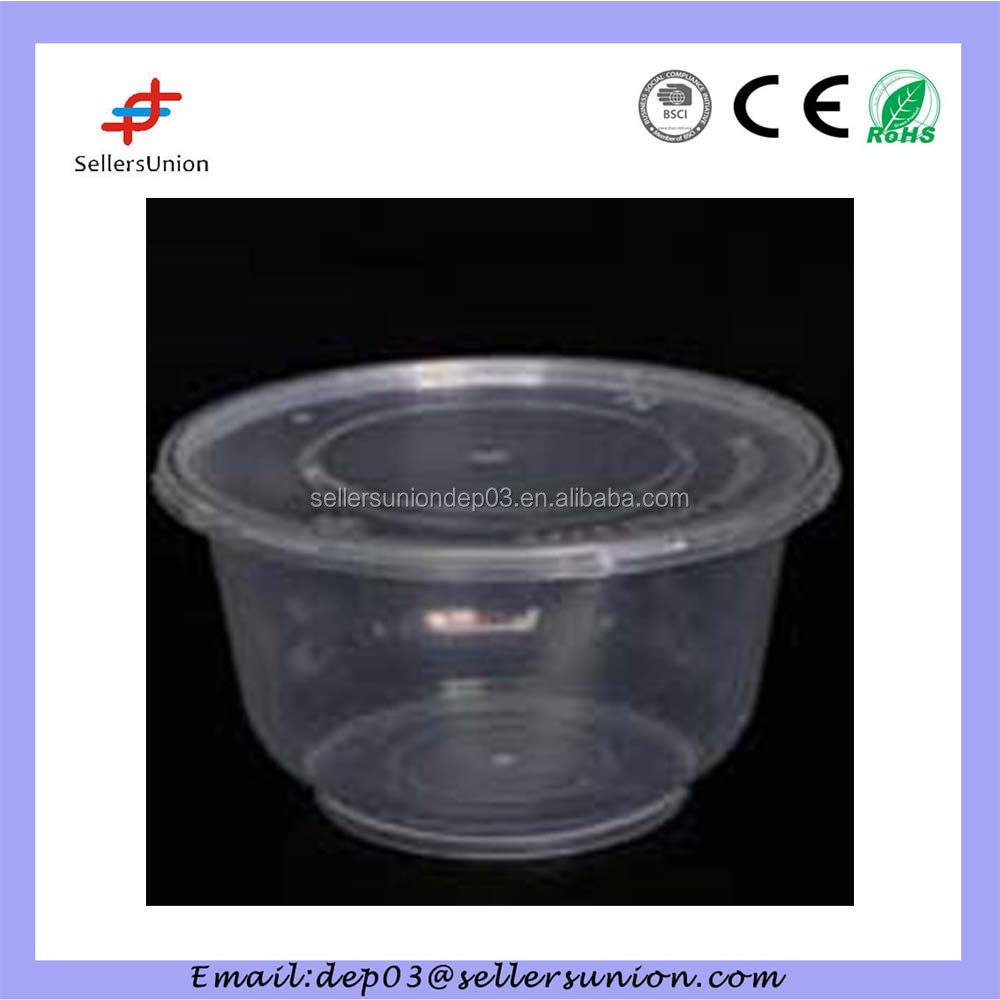hot sale clear plastic takeaway disposable food container / box