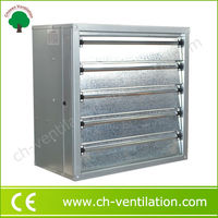 Low noise basement window temperature controlled exhaust fan