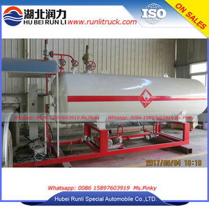 Cheapest Skid LPG Gas Filling Station 5000Lilers Mini Gas Refilling Plant for Home Cooking Gas