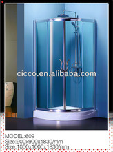 Factory Product!!Prefab Shower Enclosures/Aluminum Frame Glass Sliding Door Shower Enclosure