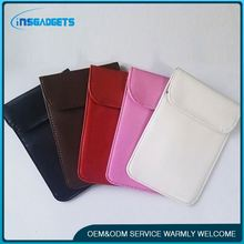 Signal blocker pouch ,h0tp5V rfid shielding leather money wallet for sale