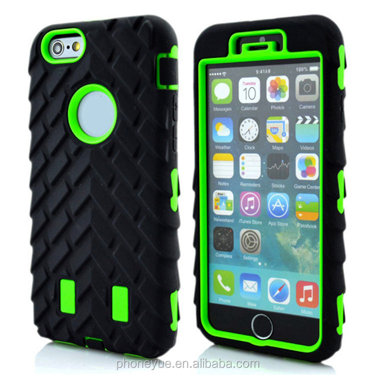 Tire Dual Layer Silicone PC Combo Hard Armor Hybrid Phone Case for lenovo a7000