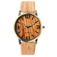 2017 Classical Bamboo Wooden Watch Men Women Wristwatches High Quality Leather Quartz Men Dress Watch