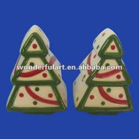 christmas tree decorative salt and pepper shakers