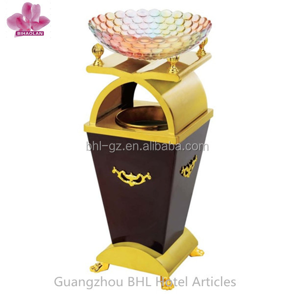 Luxury Decorative Wooden ash bucket for hotel lobby, China hotel appliance manufacturer