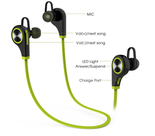 2016 Q9 In-ear Running Stereo Earbuds Bluetooth Wireless Sports Headphone for iPhone Smartphone Android cellphone,v4.1 headset