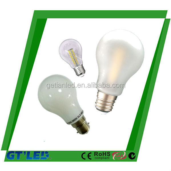 E27/ B22 7W glass Led Bulb/600lm GLS bulb with beautiful design