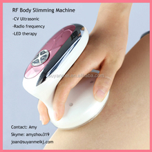 mini handy beauty spa body health care 3-in-1 ultrasonic cavitation rf slimming device home use