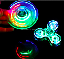 Cheap New Style fidget crystal led lights spinner flashing toys