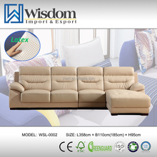 Modern Design Lifestyle Best Selling Brown Leather Settee Set