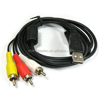 female usb to male rca cable