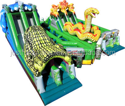 giant jungle alligator commerical inflatable adult obstacle course for sale