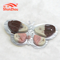 butterfly shape white and black chocolate biscuit