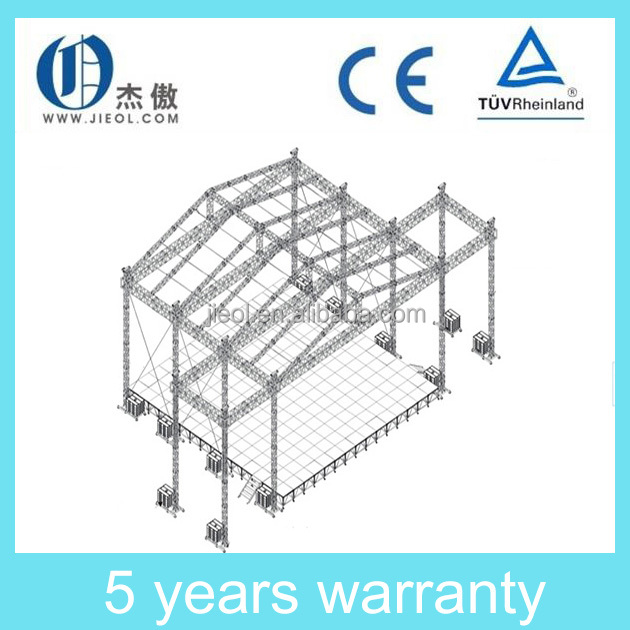 Aluminum stage truss roof trusses circle roof truss for Order roof trusses online