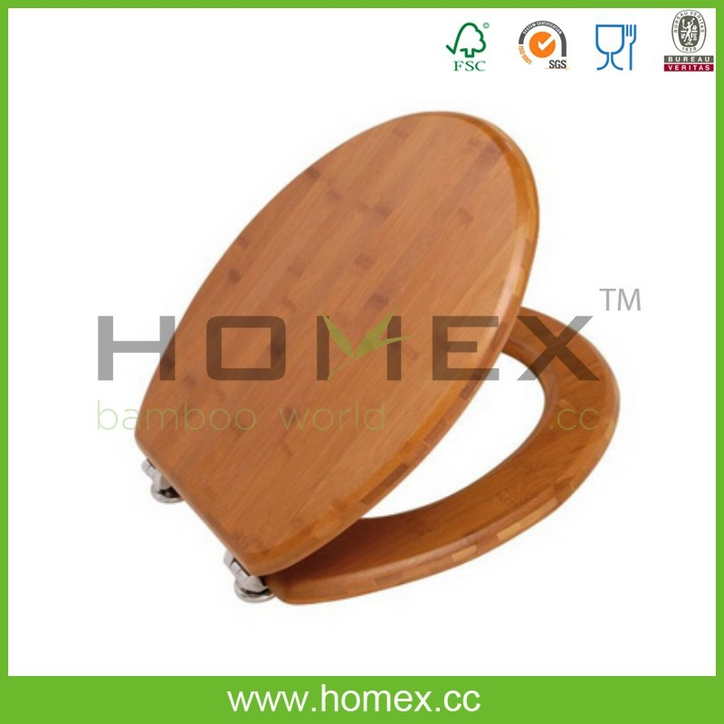 Bamboo toilet seat/Toilet seat cover/Bamboo toilet with lid/Homex-FSC/BSCI Factory