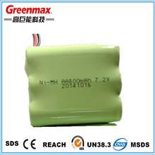 rechargeable nimh battery pack 9.6v 800mah
