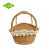 Children Basket Wicker Craft With Decoration