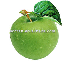 Artificial green apples model / Plastic decorative fruits for dispaly / Fake food manufacturer in Yiwu