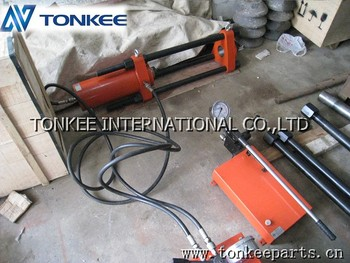 Portable Track pin press, Hand power hydraulic master pin press, Pin press for 100 Ton