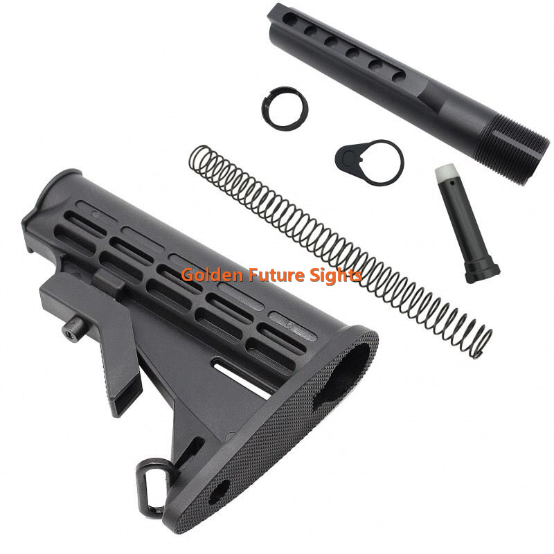 AR-15 M4 MIL-SPEC Carbine Stocks w/ 6 Position Buffer Tube Kit,3oz Carbine Buffer ar15 stocks