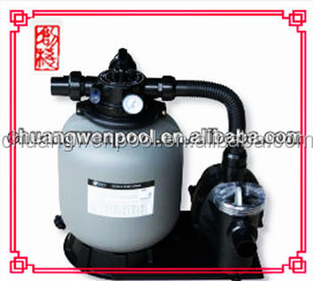 Saving Energy top mount sand filter and pump set
